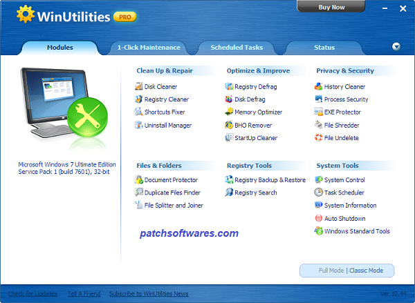 WinUtilities Pro 14.5 Crack Plus Serial Key Free