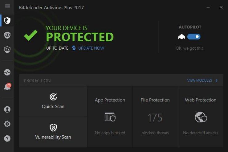 BitDefender Antivirus Plus 2017 1.0.7.4