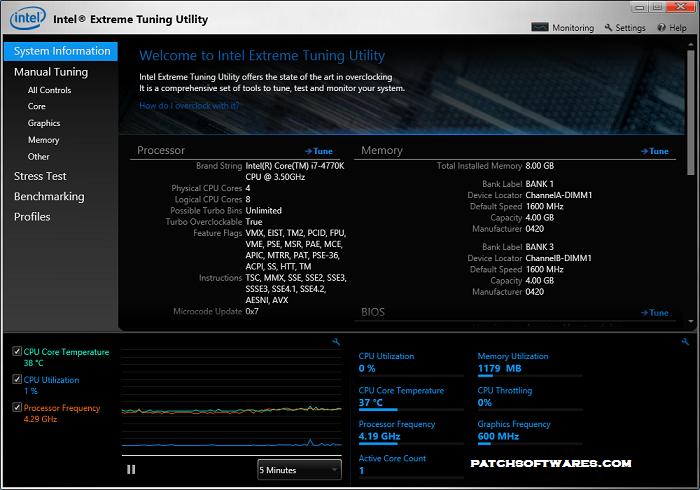 Intel Extreme Tuning Utility (XTU) 6.2.0.24