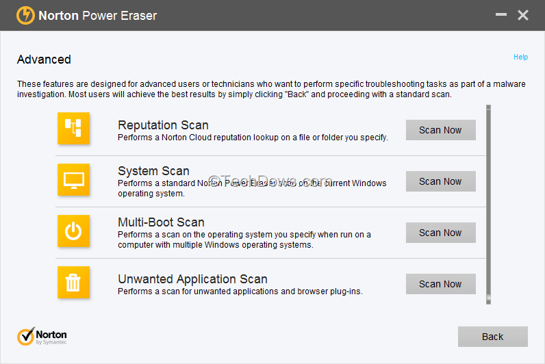Norton Power Eraser 5.2.0.132